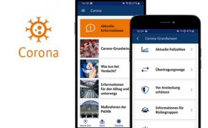 Neuer Corona-Informationsbereich in der Warn-App NINA Version 3.1