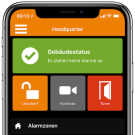 mobile Ansicht des Remote Management Systems